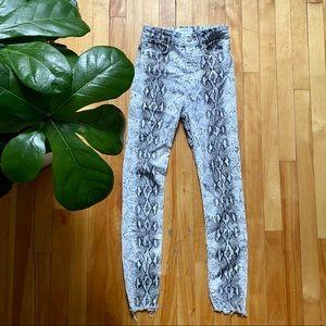 Zara snake python super high waist skinny jeans